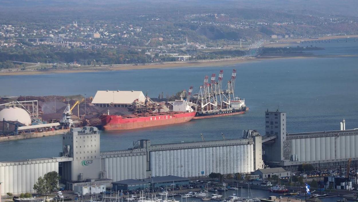 Les installations portuaires de Québec, secteur baie de Beauport