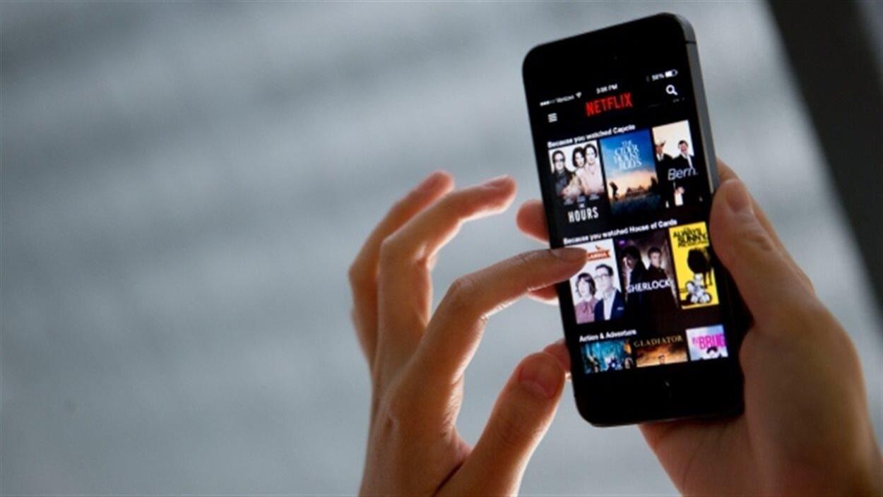 L'application Netflix sur un téléphone intelligent