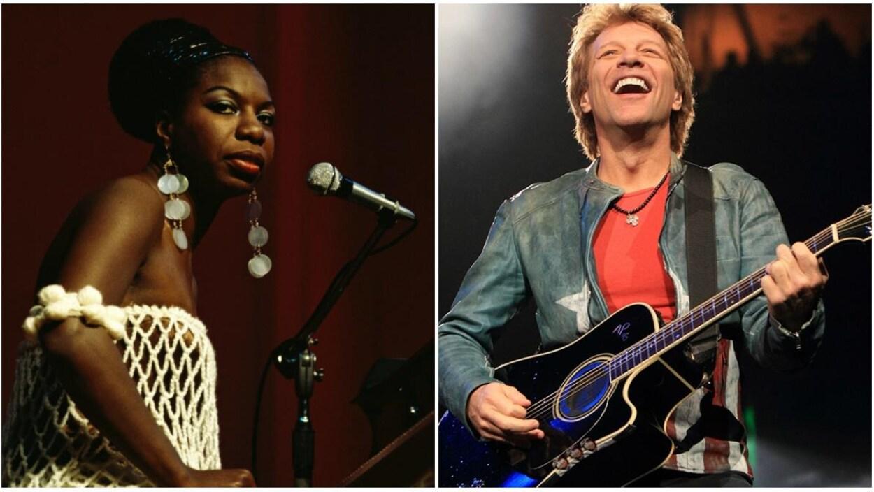 Deux artistent offrent une prestation musical durant différents spectacles.