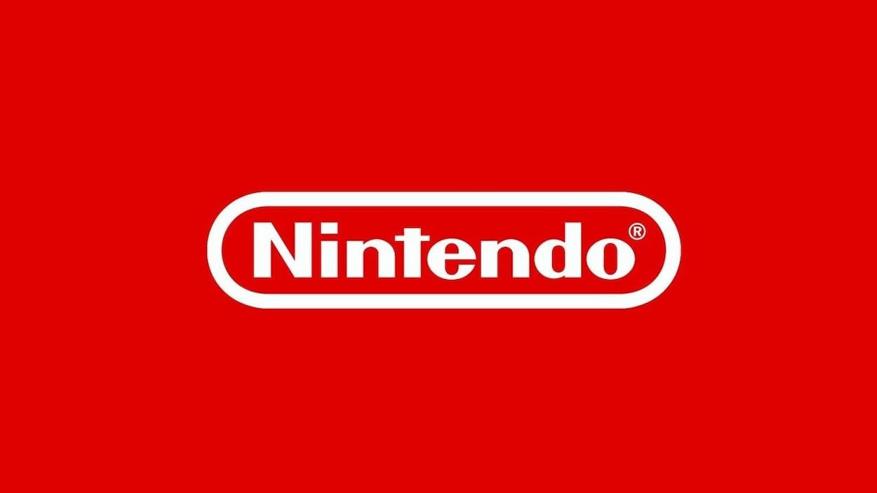Le logo classique de Nintendo, sur un fond rouge