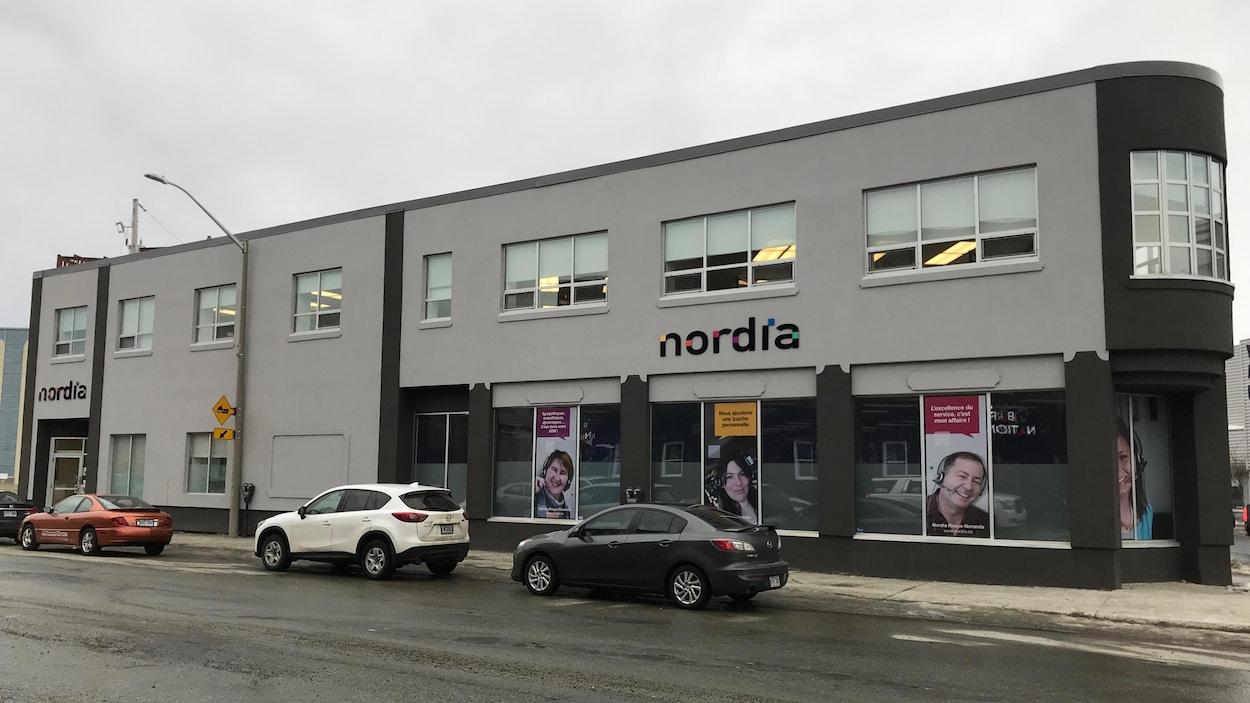 La façade du bâtiment de l'entreprise Nordia.