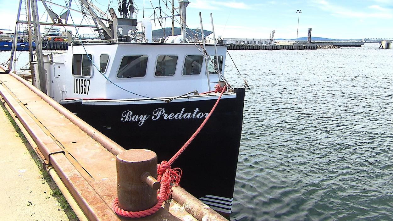 Bateau de pêche ancré au port de Sept-Îles.
