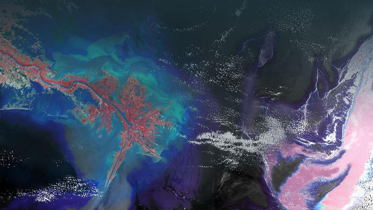 Une image de la Terre captée par un satellite.