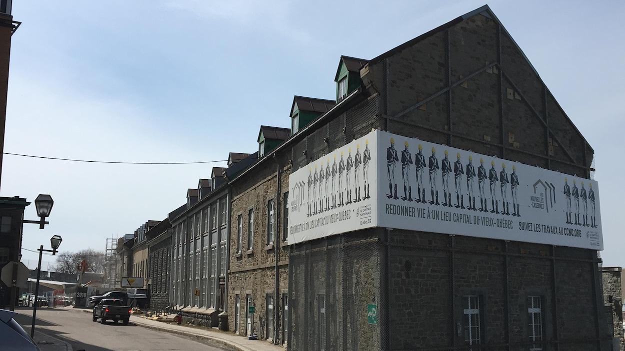 Les travaux sont commencés pour stabiliser les Nouvelles-Casernes dans le Vieux-Québec