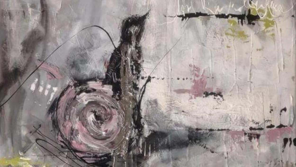 Oeuvre de l'artiste Annie Rodrigue intitulée Mémonik - Trop loin