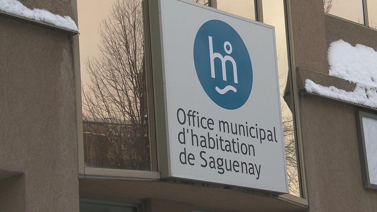 L'affiche de l'Office municipal d'habitation de Saguenay