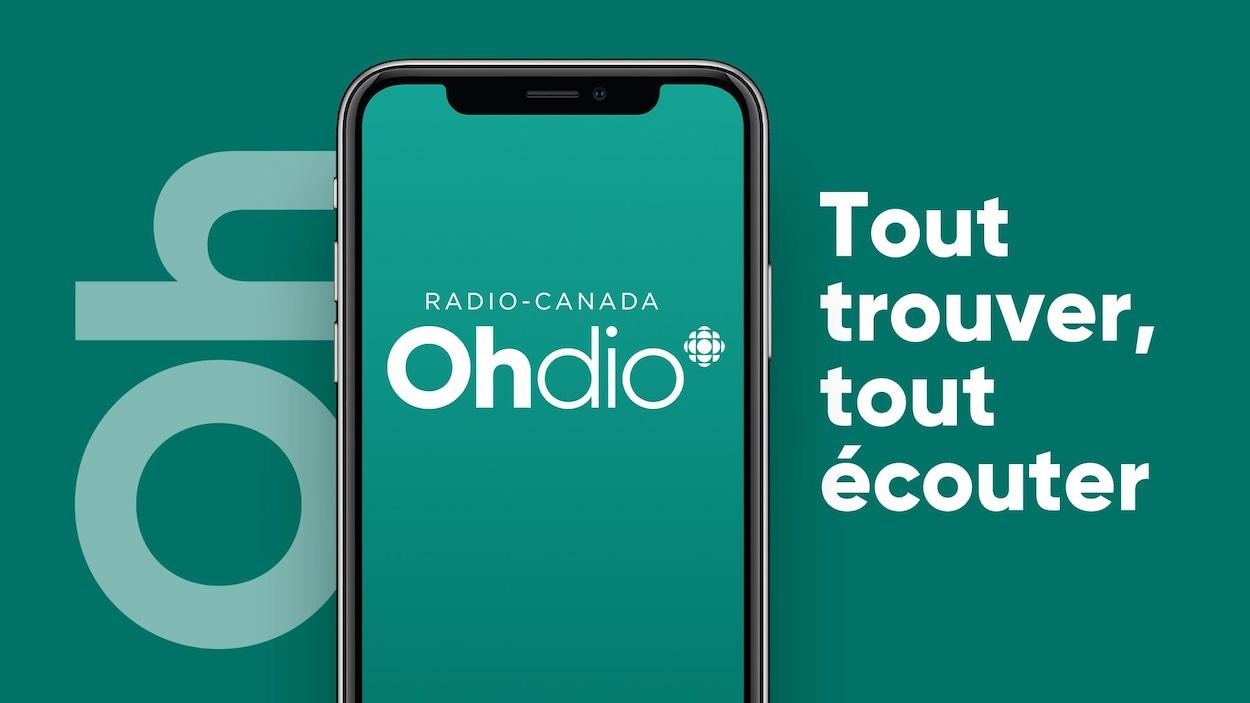 Un écran de téléphone sur lequel on peut lire « OHdio ».