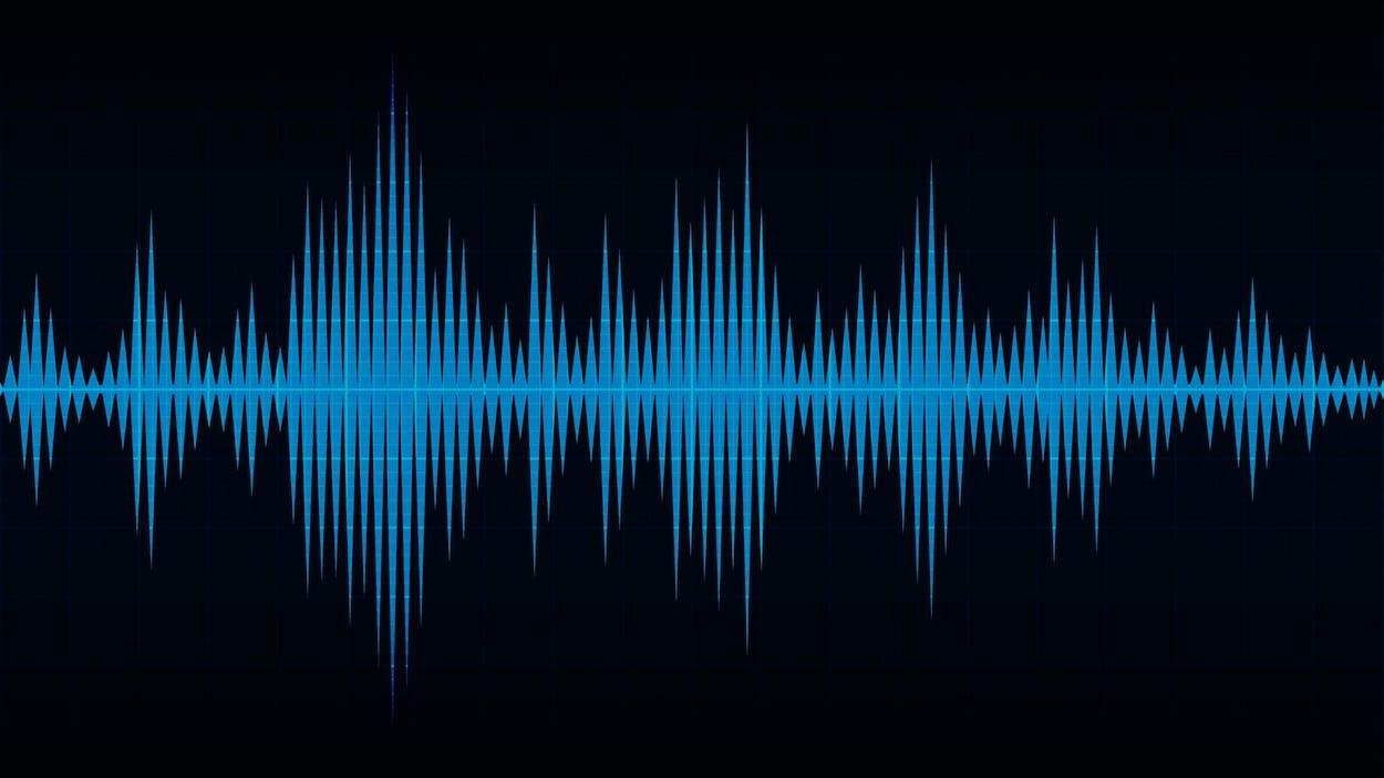 Illustration numérique du concept de son.