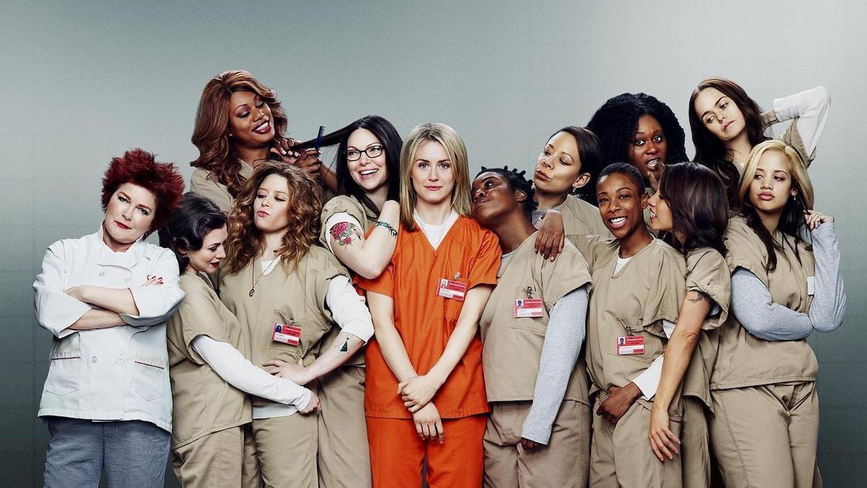 Les actrices de la série «Orange Is the New Black» lors de la quatrième saison.
