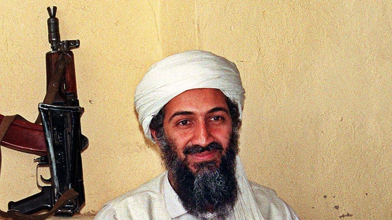 Une photo non datée d'Oussama ben Laden en Afghanistan