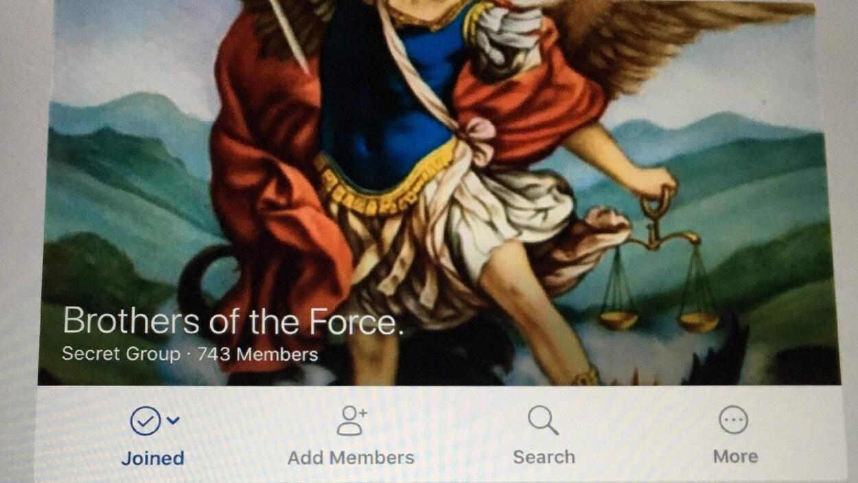Photo du nom du groupe Facebook : « Brothers of the Force »