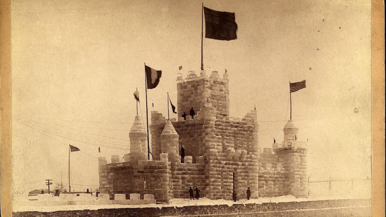 Photographie ancienne du Palais de glace, 1894 - Bibliothèque et archives nationales du Québec