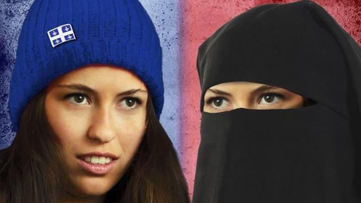 « Choisissez votre Québec », peut-on lire sur l'affiche du candidat à l'élection partielle dans la circonscription de Gouin, à Montréal, Alexandre Cormier-Denis, du Parti indépendantiste. D'un côté, une jeune femme porte un bonnet de laine bleu au fleurdelisé et de l'autre, une femme en burqa.