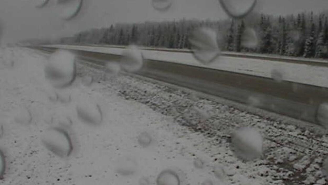 Photo de l'autoroute 881 près de Conklin en Alberta