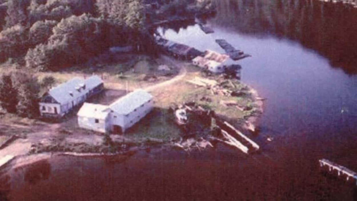 Une photo d'archives montre la pointe d'Opémican dans les années 80.