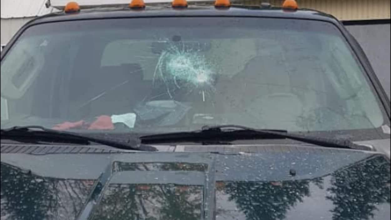 Le véhicule de Véronik Gagné a été vandalisé.