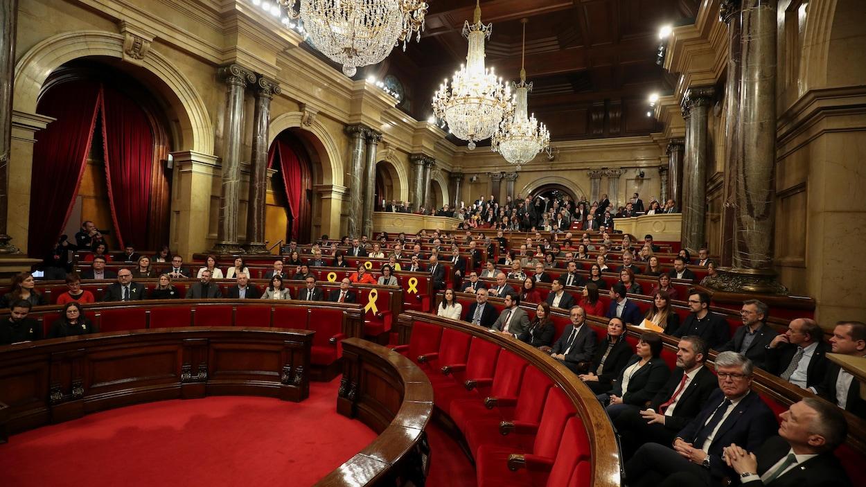 Vue d'ensemble du Parlement catalan.