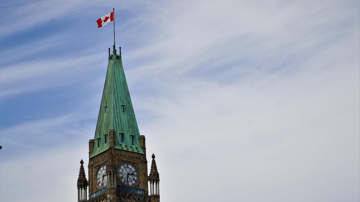 La tour de la Paix, du Parlement canadien à Ottawa.