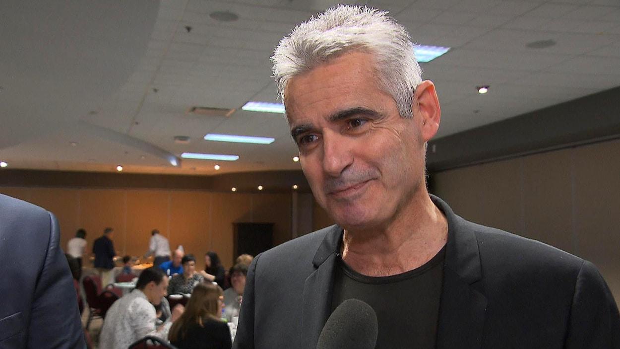 Le comédien Patrice Coquereau en entrevue à Radio-Canada