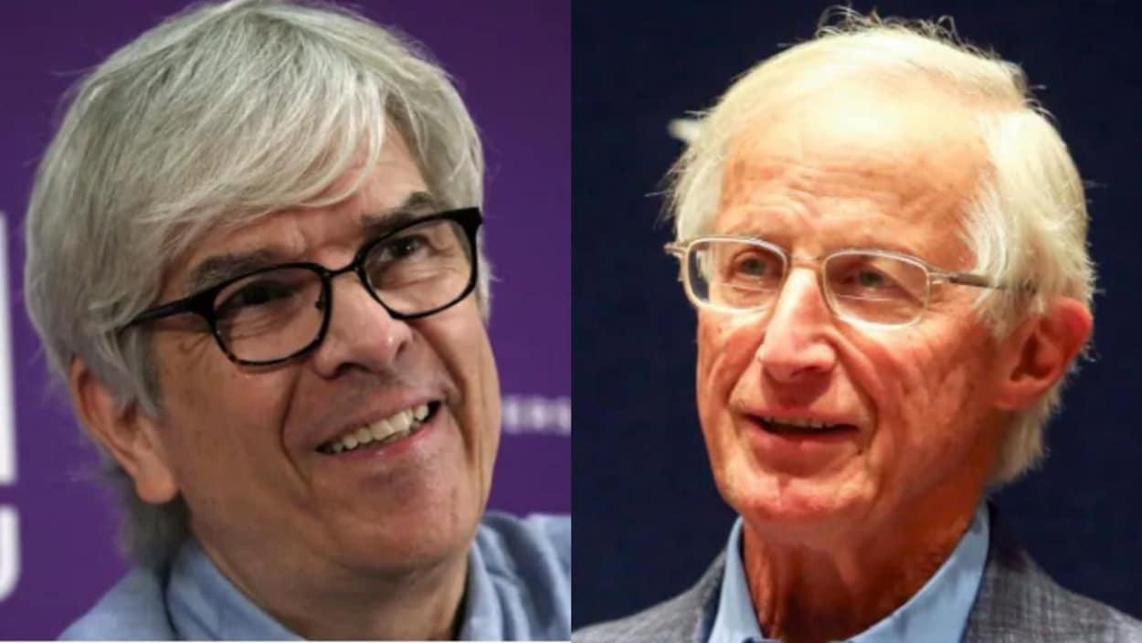 L'économiste Paul Romer (à gauche) et l'économiste William Nordhaus (à droite).