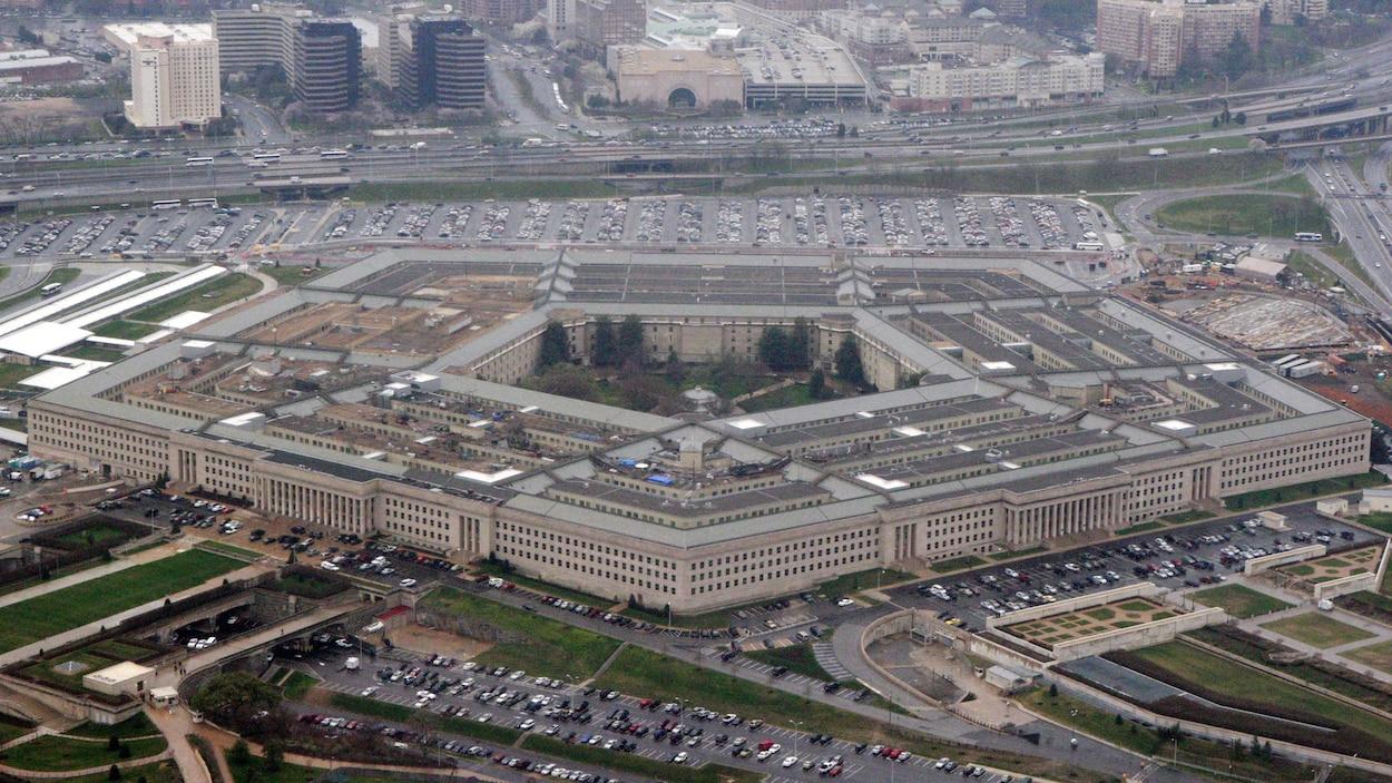 Vue aérienne du Pentagone.