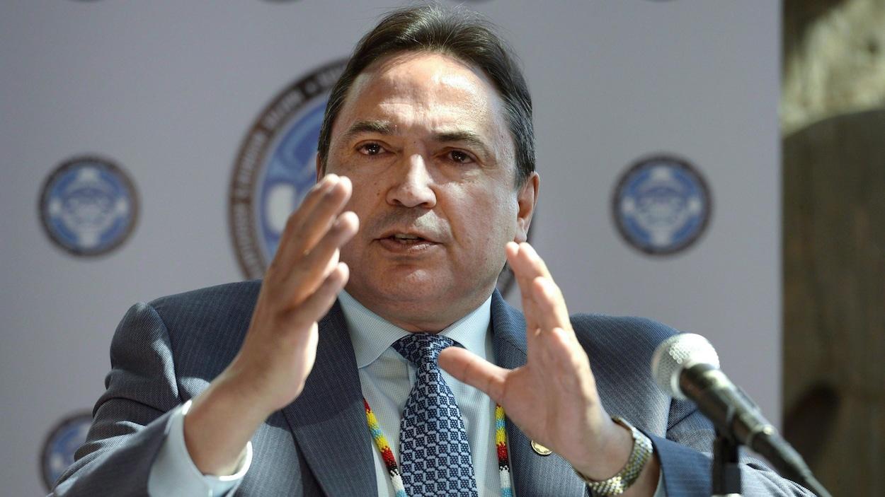 Le chef de l'Assemblée des Premières Nations, Perry Bellegarde