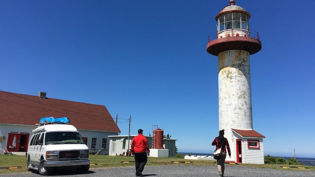 Le phare Cap Madeleine, à Sainte-Madeleine-de-la-Rivière-Madeleine