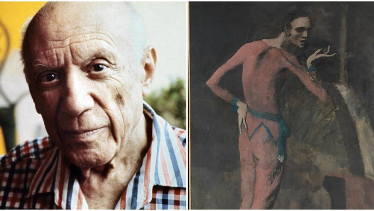 Pablo Picasso et son tableau « L'acteur »