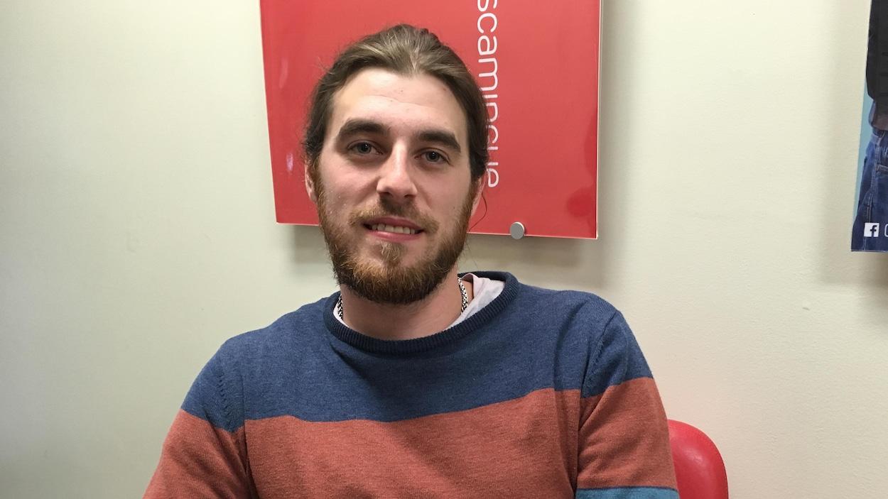 Pier-Marc Corriveau, vice-président du Forum jeunesse de l'Abitibi-Témiscamingue