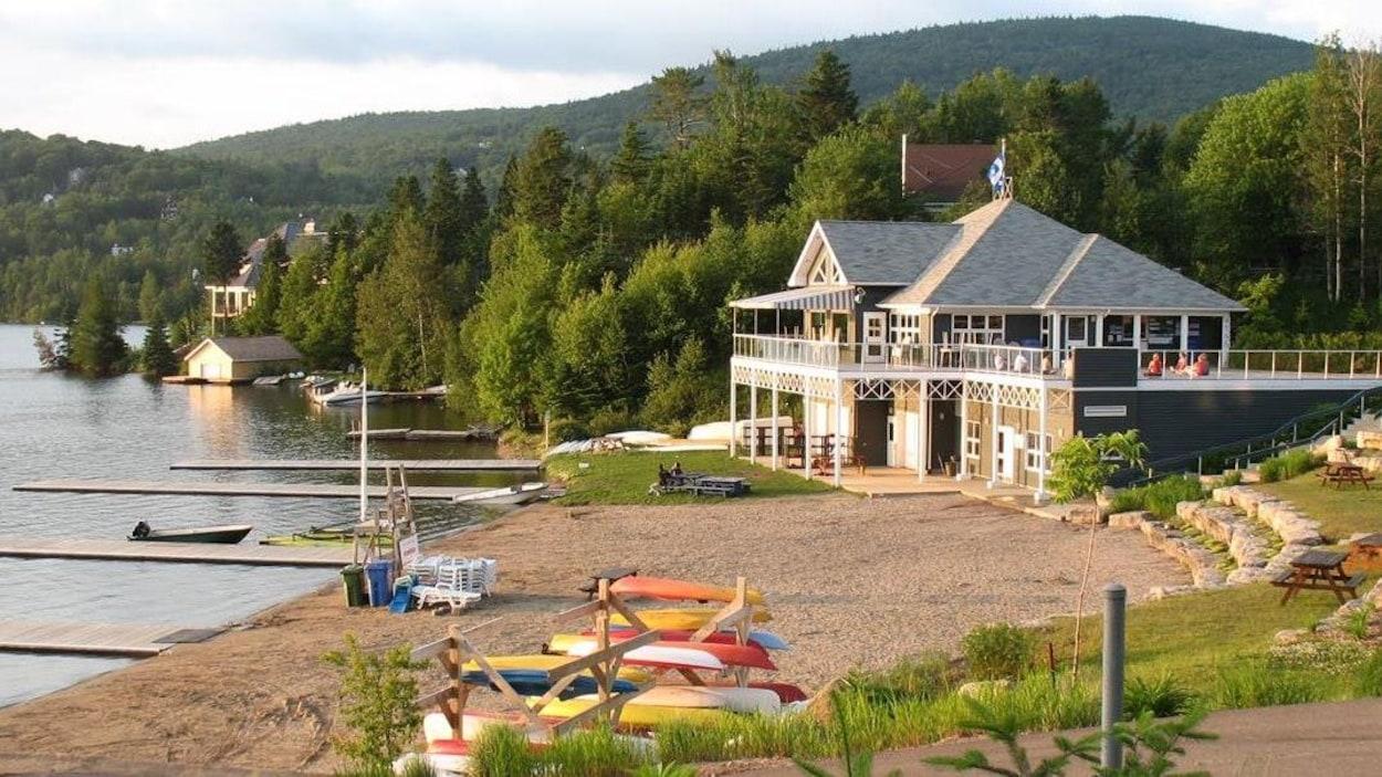 La plage du club nautique de Lac-Beauport (archives)