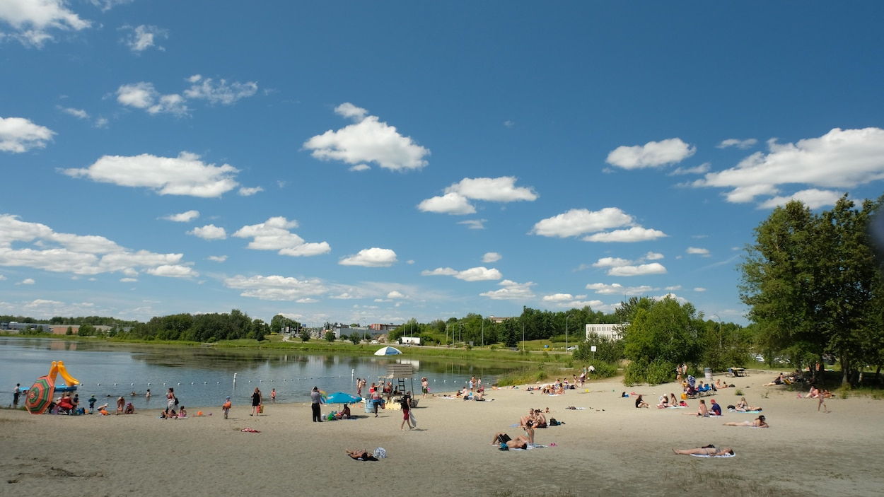 La plage Kiwanis de Rouyn-Noranda