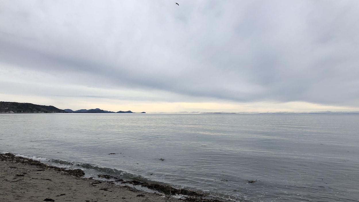 La plage du Rocher-Blanc, à Rimouski (archives)