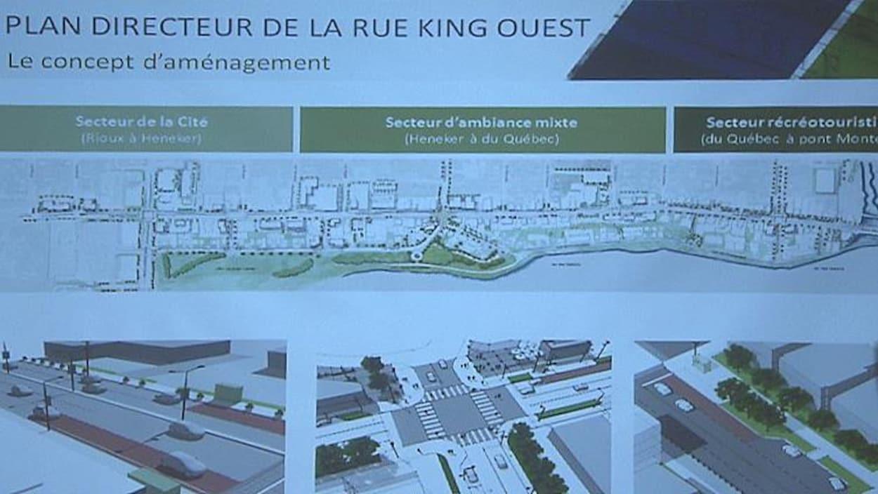 Le plan directeur de la rue King Ouest.