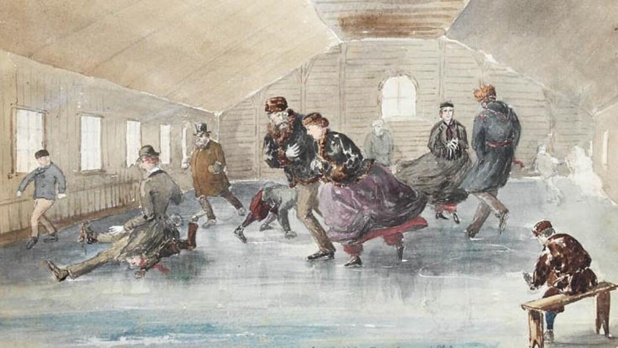 Couvrir Une Cour Intérieure la première patinoire intérieure du canada en 1851 à