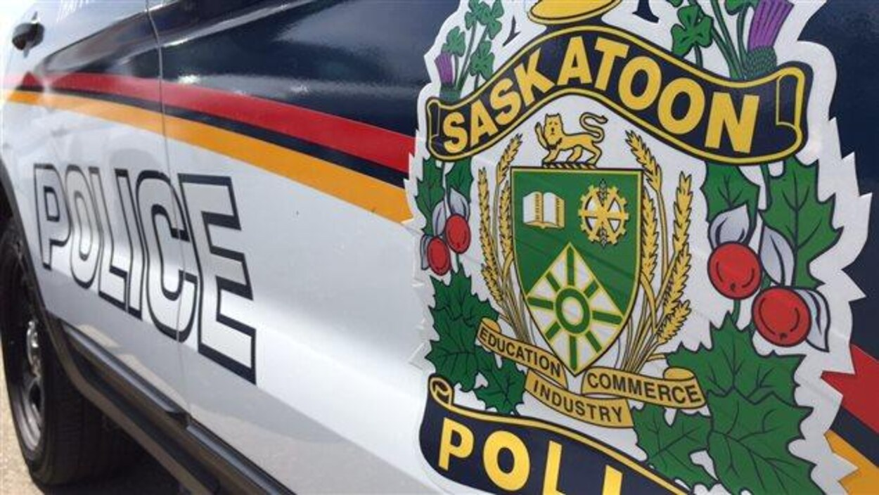 Une voiture de police de Saskatoon.