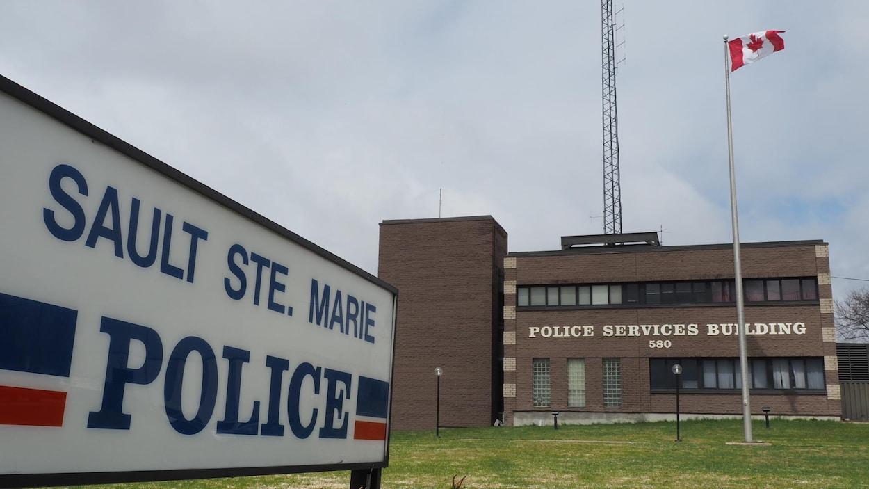Les bureaux de la police de Sault-Sainte-Marie en Ontario.
