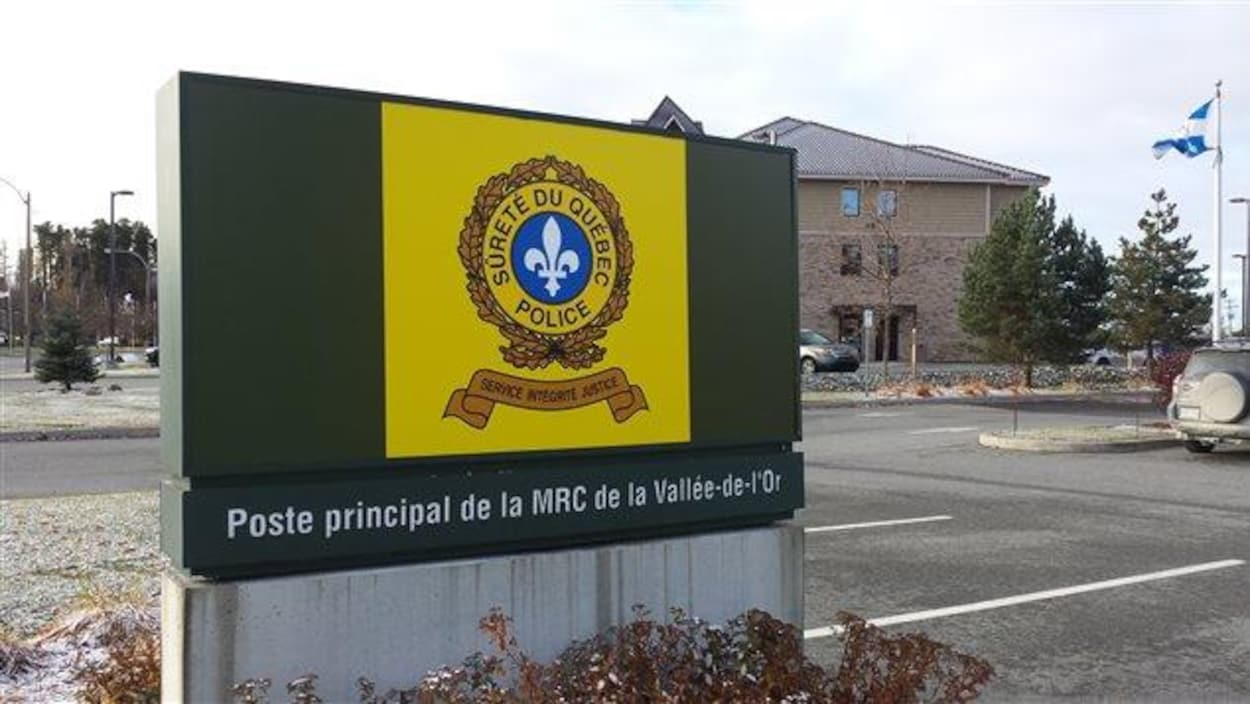 Poste de la SQ à Val-d'Or.