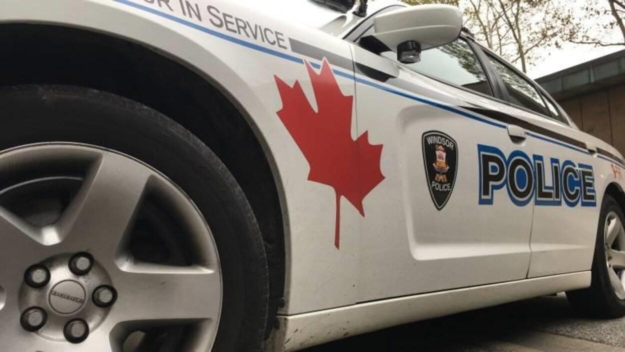 Une voiture de police de Windsor.