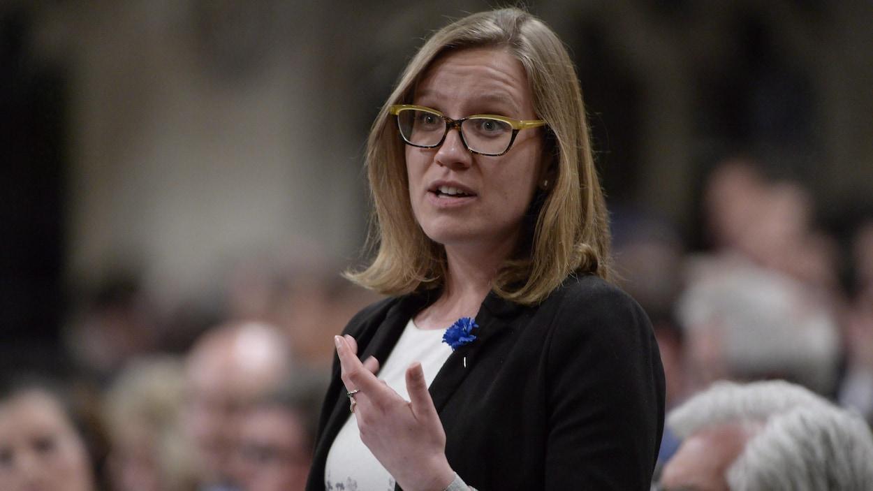 La ministre Karina Gould lors de la période des questions, au Parlement.