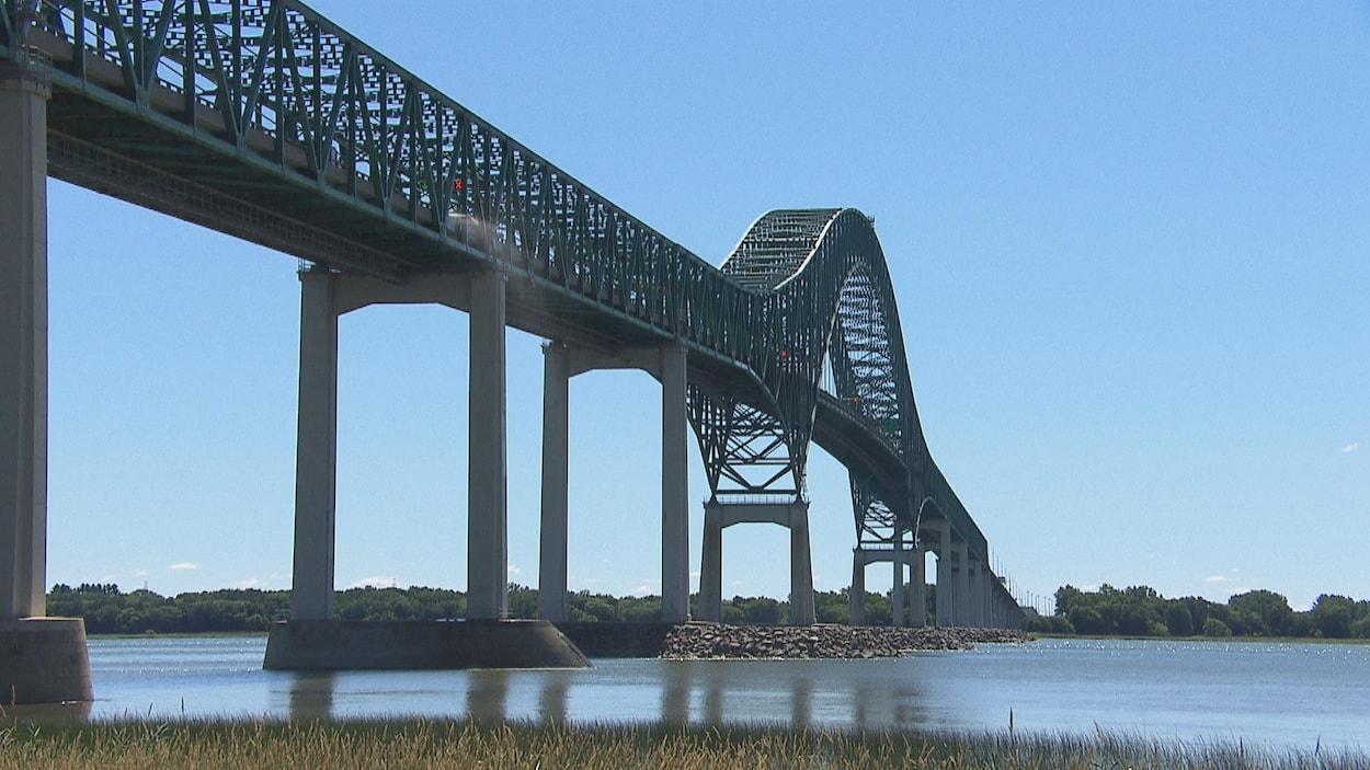 Le pont Laviolette, le 18 juillet 2018