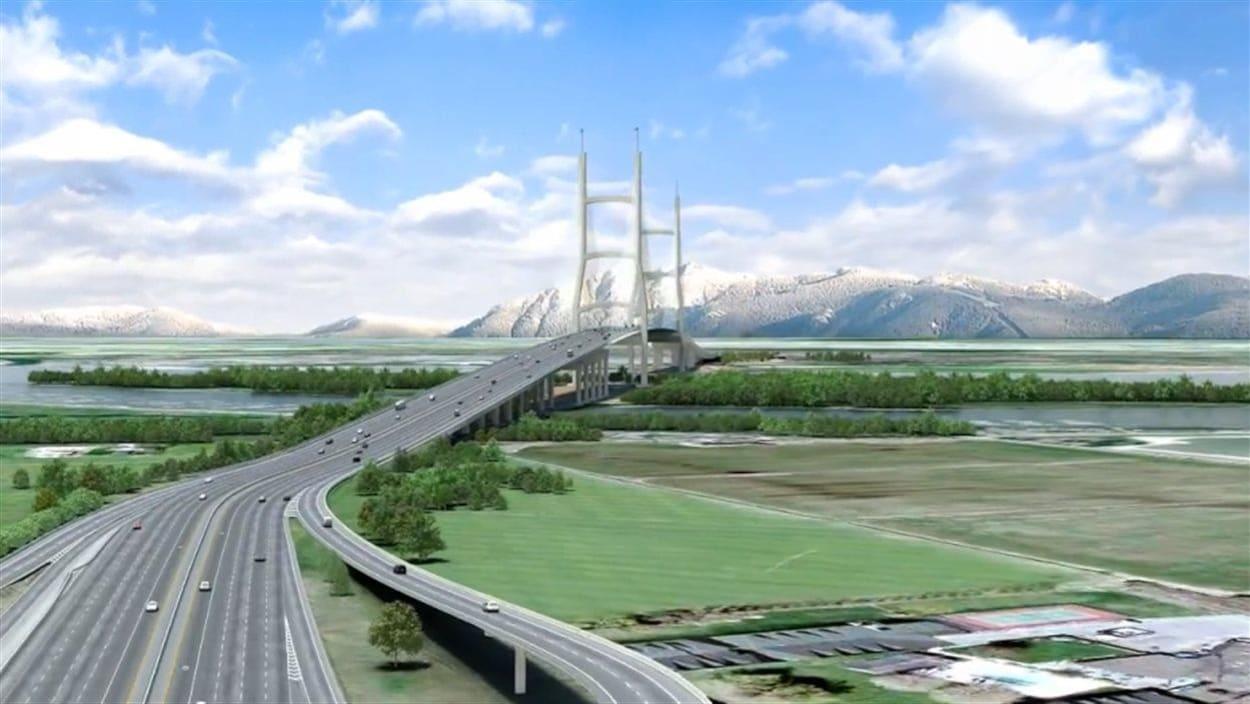 Le projet de pont qui remplacerait le tunnel George Massey