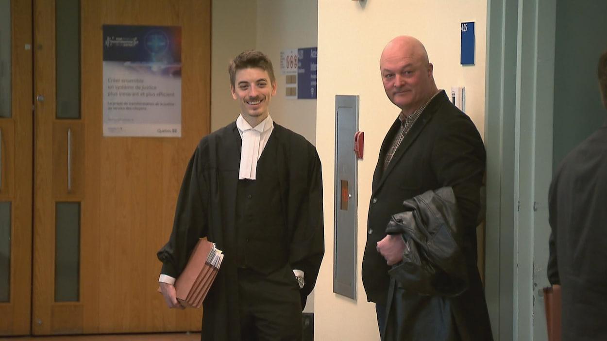Michel Brûlé et son avocat.
