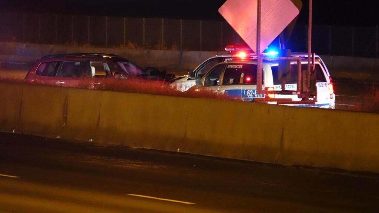 L'A40 dans l'ouest de Montréal rouvre à la circulation — Poursuite policière