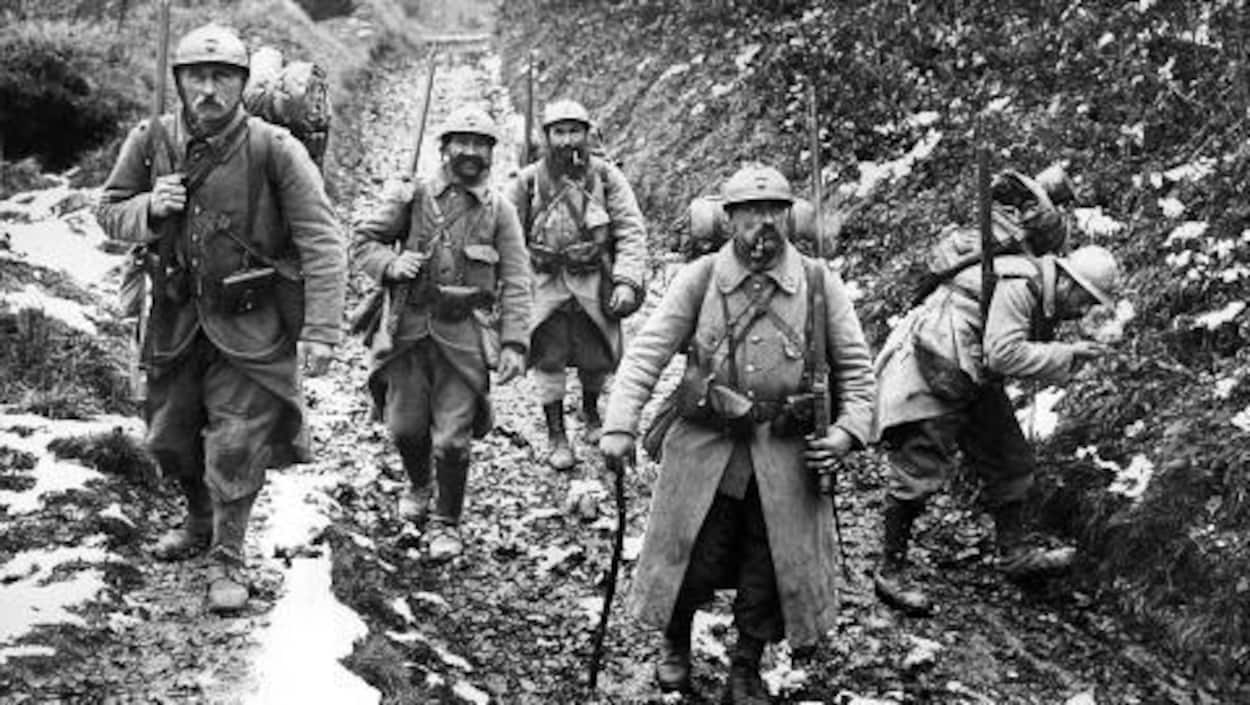 Des soldats français lors de la Première Guerre mondiale