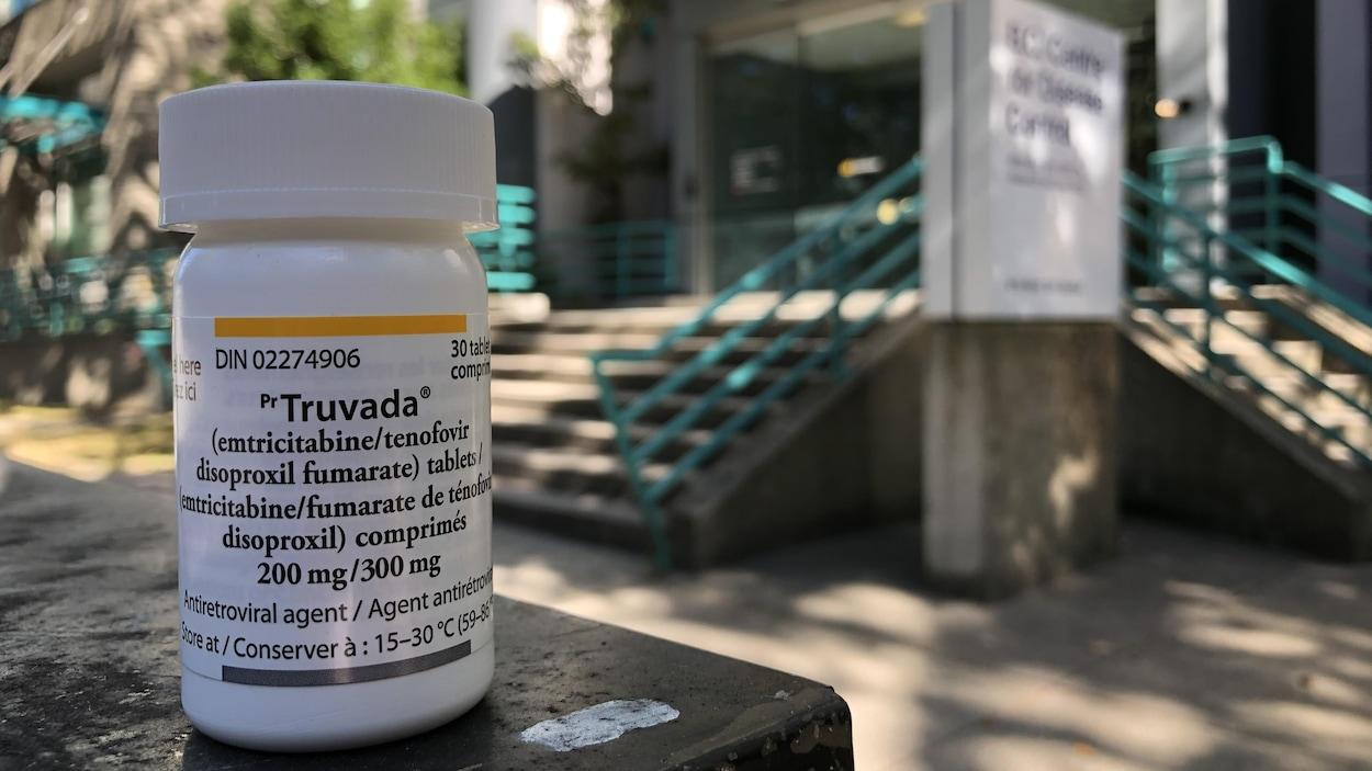 Un flacon de prescription.