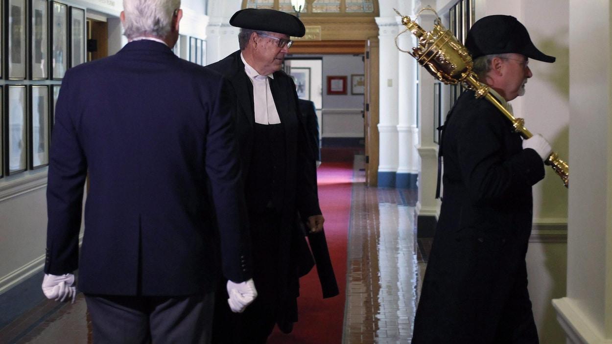 Le président de l'Assemblée législative, le libéral Steve Thomson