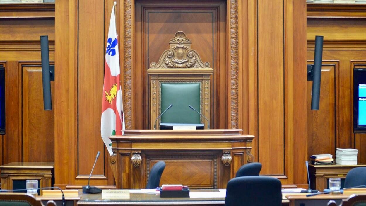 Le siège du président du conseil municipal de Montréal