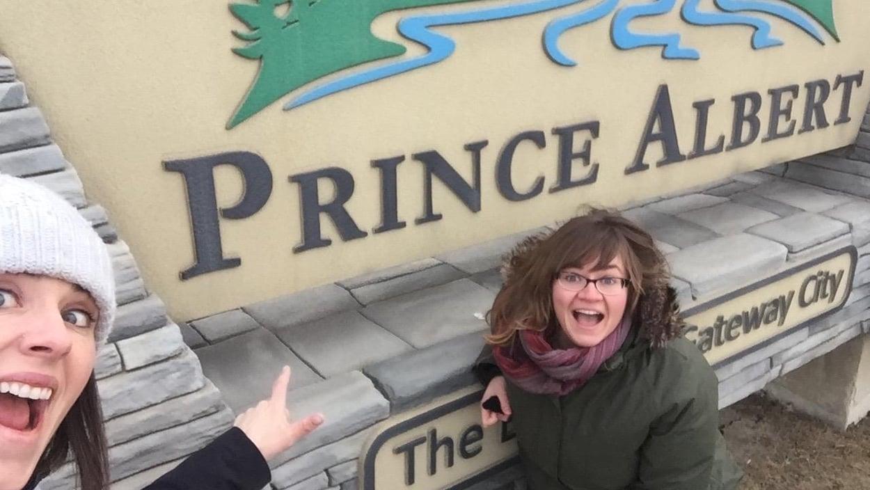Photo de Nicole Lavergne-Smith et Chantal Hamon qui passent la journée parfaite à Prince Albert