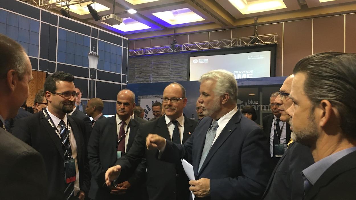 Le prince de Monaco et le premier ministre du Québec au BioMarine Business Convention de Rimouski