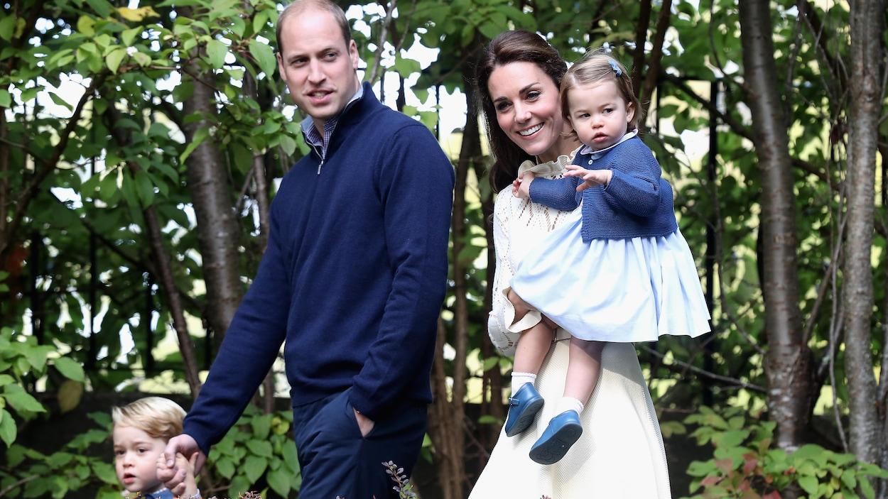Le prince William, Kate Middleton, le prince George et la princesse Charlotte